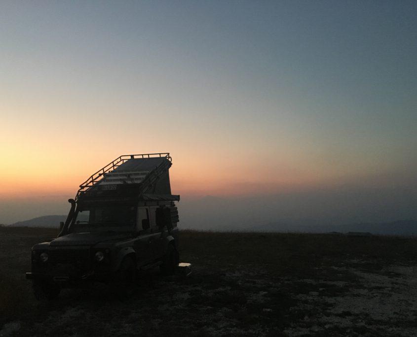 Sonnenuntergang am Monte Lisser in den Alpen