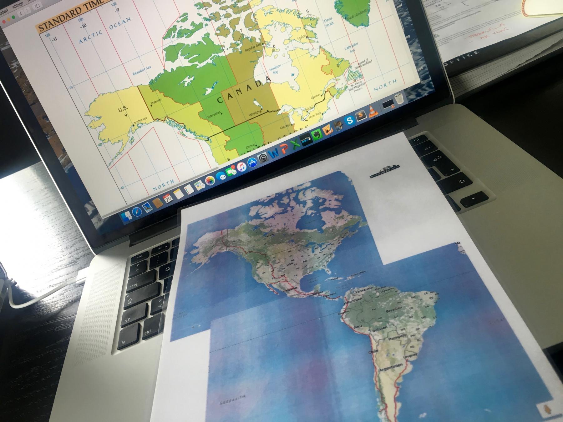 Panamericana-Karte