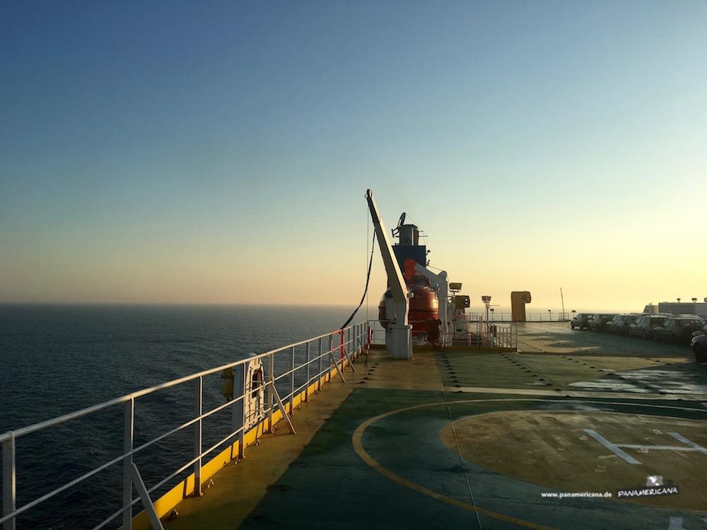 Die ersten Stunden auf See.